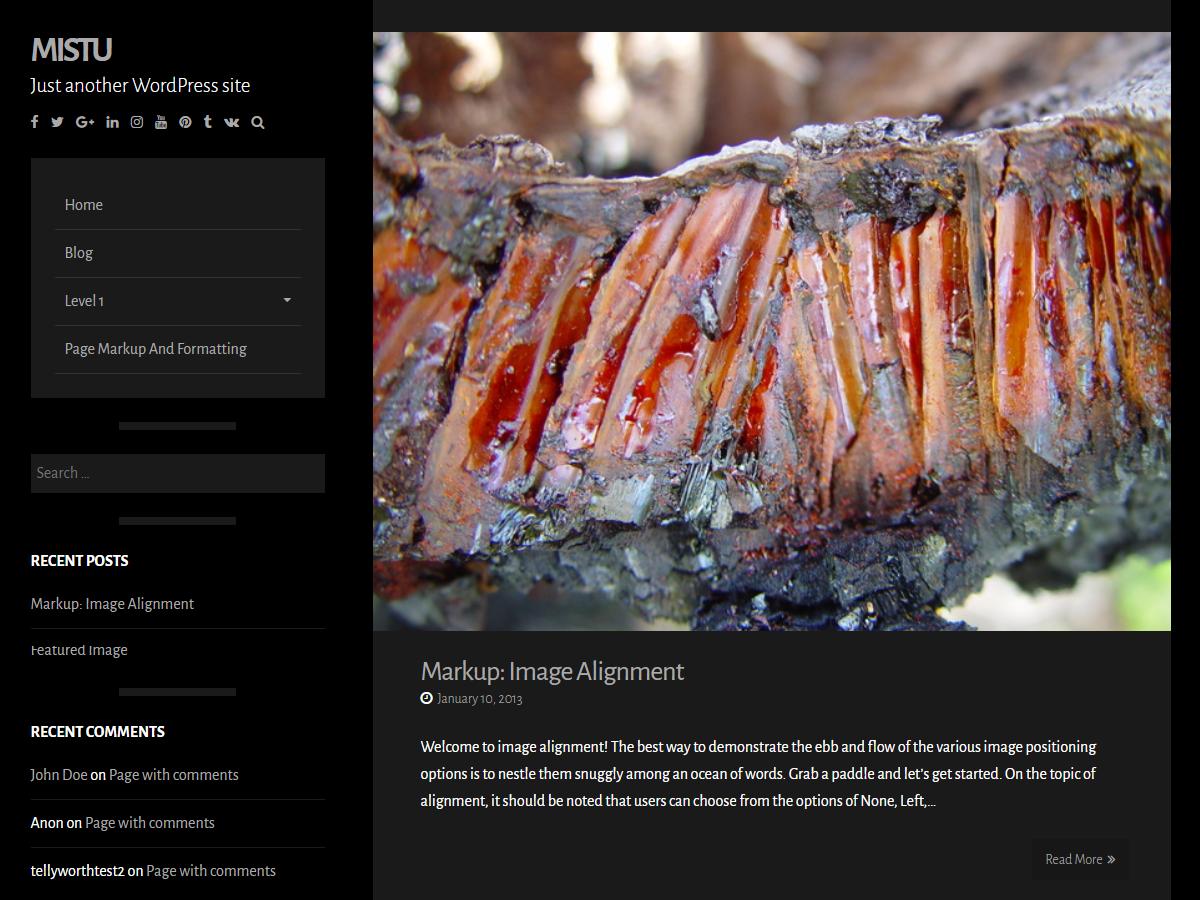 Mistu Preview Wordpress Theme - Rating, Reviews, Preview, Demo & Download