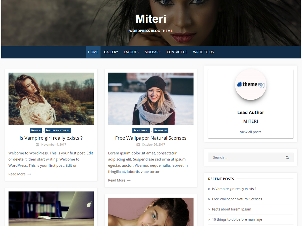 Miteri Preview Wordpress Theme - Rating, Reviews, Preview, Demo & Download