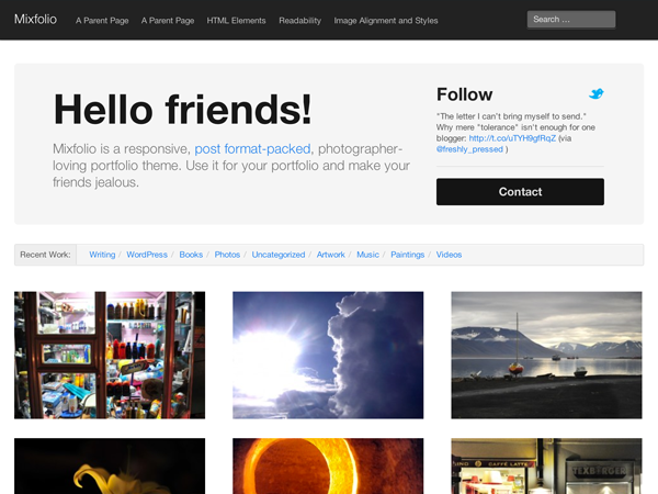 Mixfolio Preview Wordpress Theme - Rating, Reviews, Preview, Demo & Download