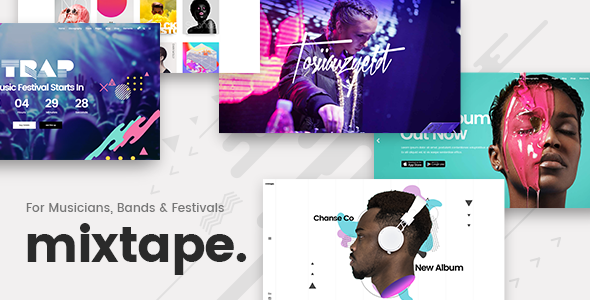 Mixtape Preview Wordpress Theme - Rating, Reviews, Preview, Demo & Download