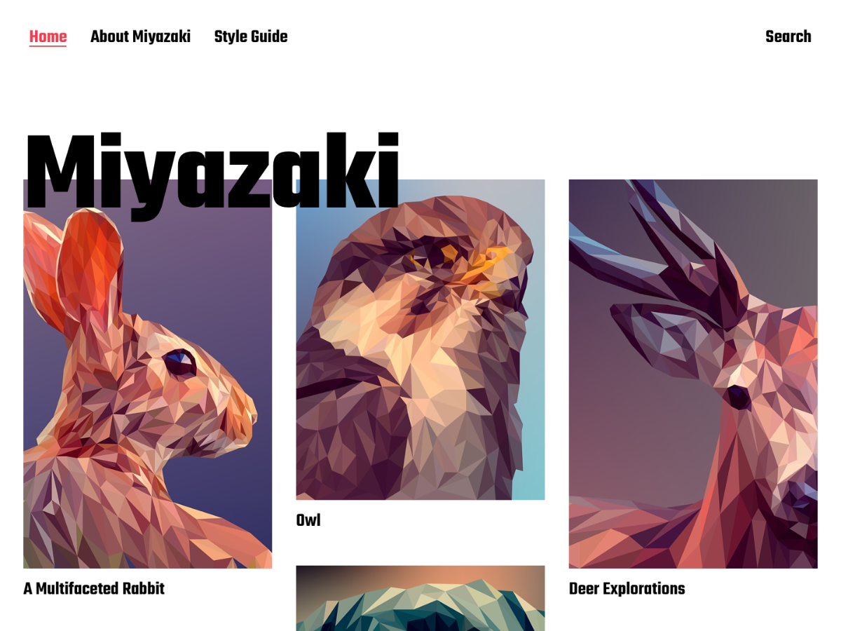Miyazaki Preview Wordpress Theme - Rating, Reviews, Preview, Demo & Download