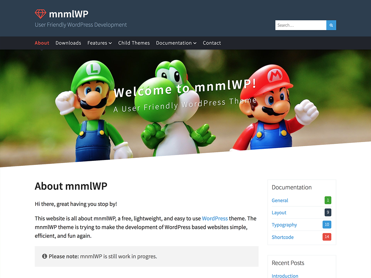 Mnmlwp Preview Wordpress Theme - Rating, Reviews, Preview, Demo & Download