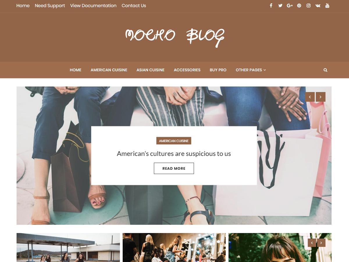 Mocho Blog Preview Wordpress Theme - Rating, Reviews, Preview, Demo & Download