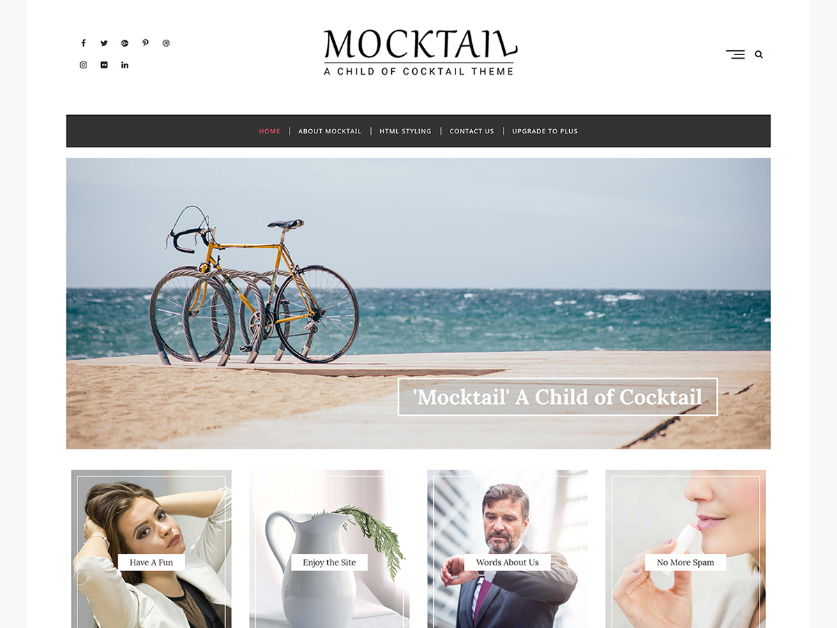 Mocktail Preview Wordpress Theme - Rating, Reviews, Preview, Demo & Download