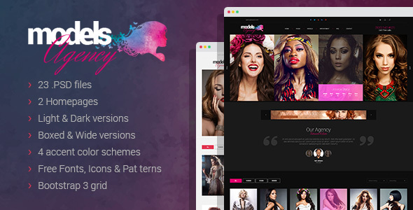 Models Agency Preview Wordpress Theme - Rating, Reviews, Preview, Demo & Download