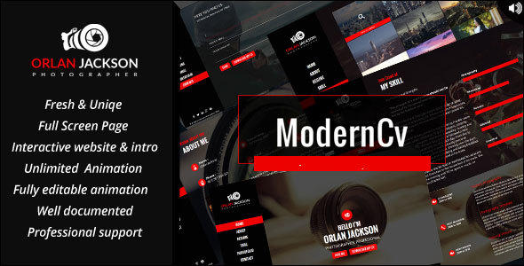 Modern CV Preview Wordpress Theme - Rating, Reviews, Preview, Demo & Download