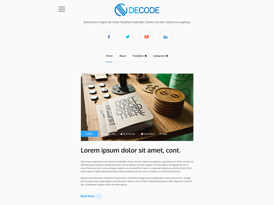 Modern Decode Preview Wordpress Theme - Rating, Reviews, Preview, Demo & Download