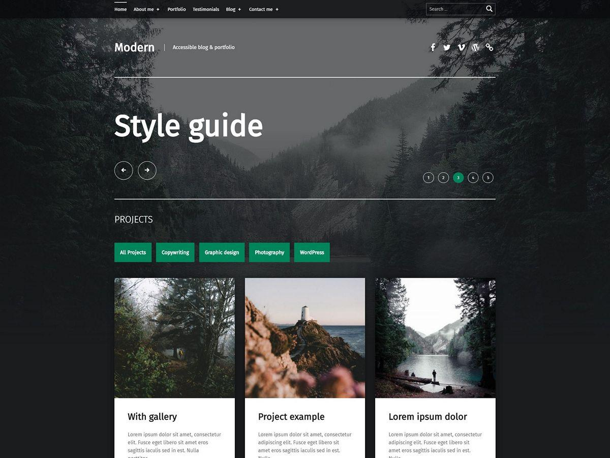 Modern Preview Wordpress Theme - Rating, Reviews, Preview, Demo & Download