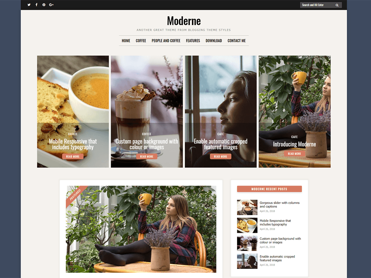 Moderne Preview Wordpress Theme - Rating, Reviews, Preview, Demo & Download