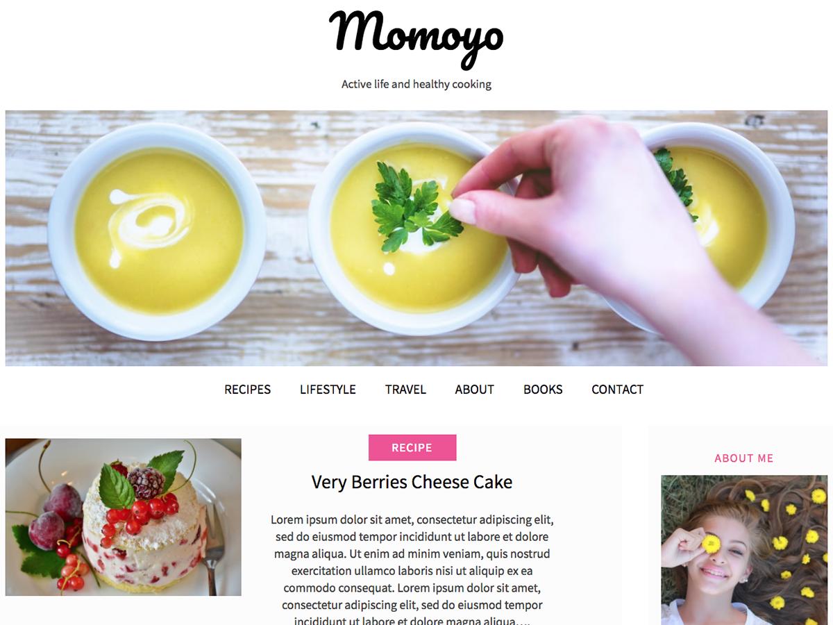 Momoyo Preview Wordpress Theme - Rating, Reviews, Preview, Demo & Download