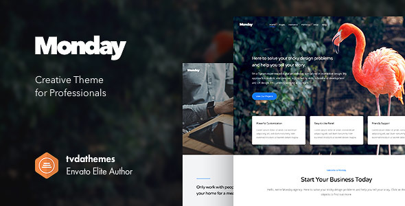 Monday Preview Wordpress Theme - Rating, Reviews, Preview, Demo & Download