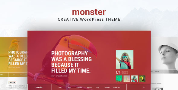 Monster Creative Preview Wordpress Theme - Rating, Reviews, Preview, Demo & Download