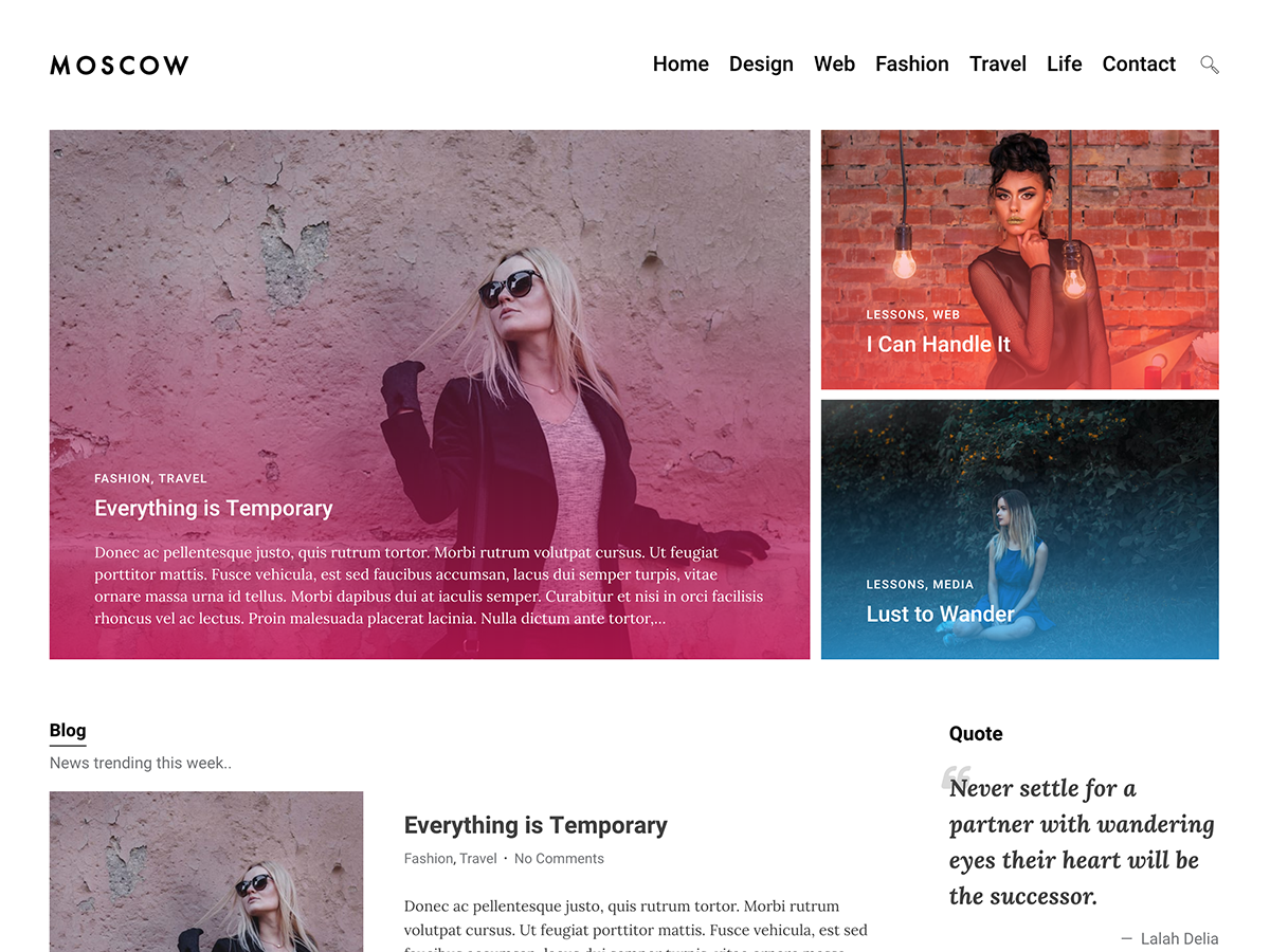 Moscow Preview Wordpress Theme - Rating, Reviews, Preview, Demo & Download