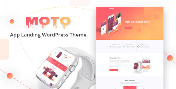 Moto Preview Wordpress Theme - Rating, Reviews, Preview, Demo & Download