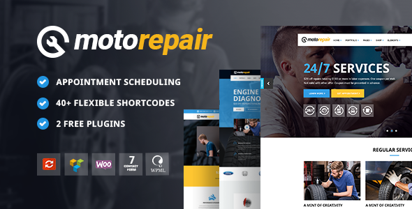 Motorepair Preview Wordpress Theme - Rating, Reviews, Preview, Demo & Download