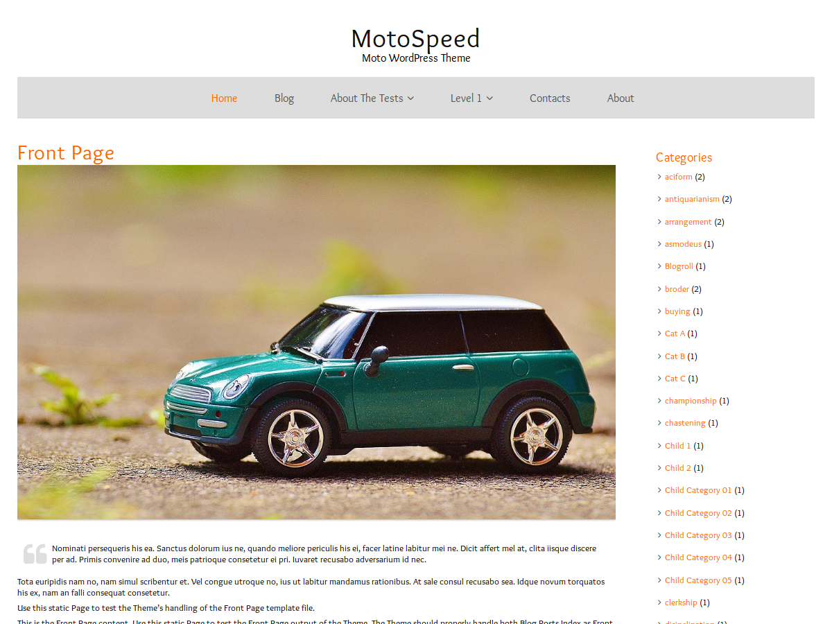 MotoSpeed Preview Wordpress Theme - Rating, Reviews, Preview, Demo & Download