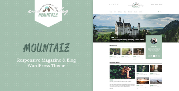 Mountaiz Preview Wordpress Theme - Rating, Reviews, Preview, Demo & Download