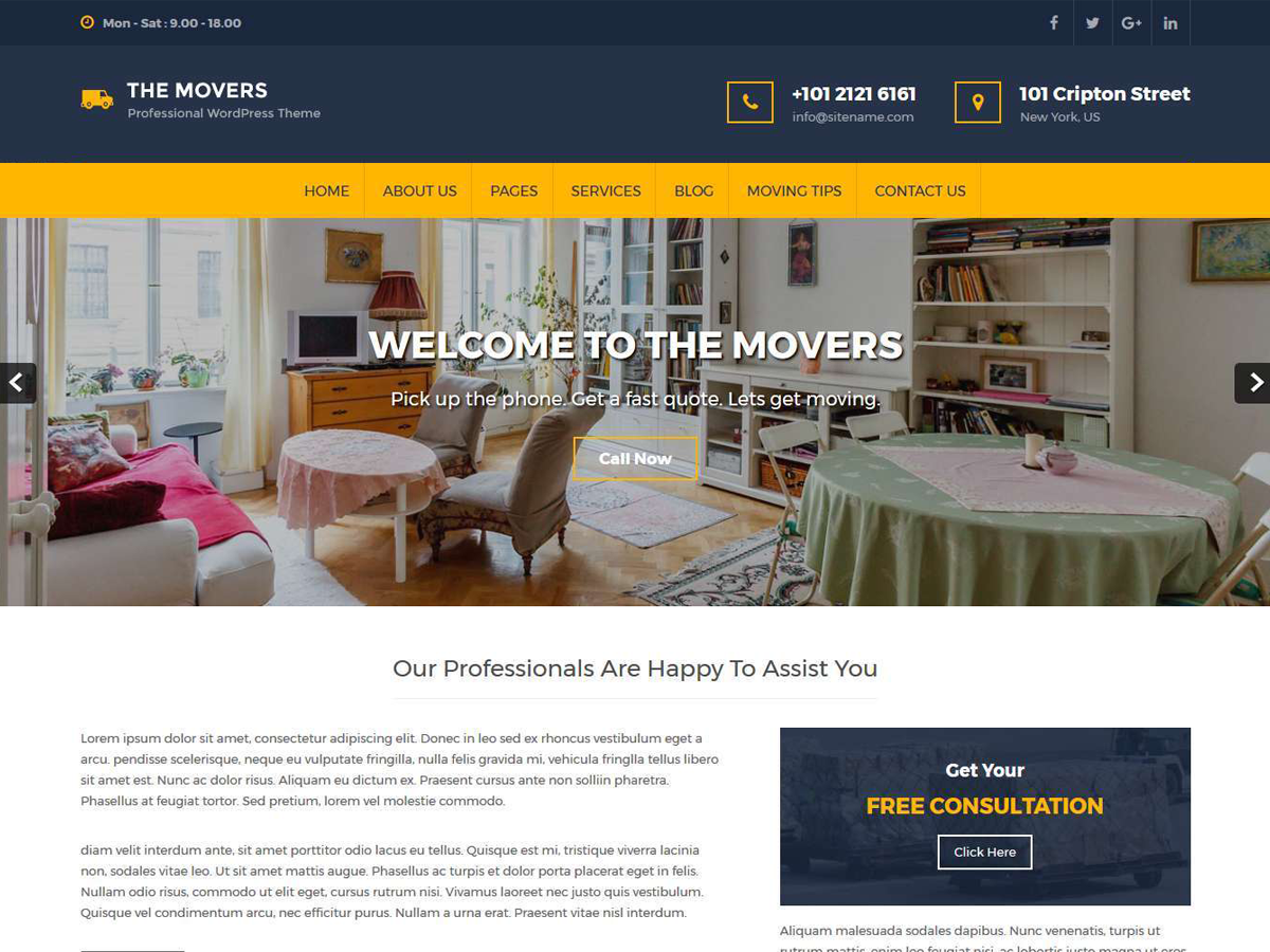 Movers Lite Preview Wordpress Theme - Rating, Reviews, Preview, Demo & Download