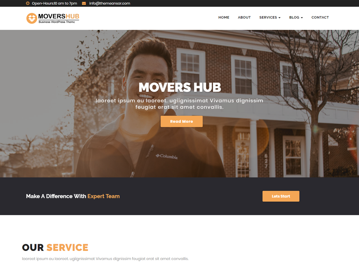 Movershub Preview Wordpress Theme - Rating, Reviews, Preview, Demo & Download