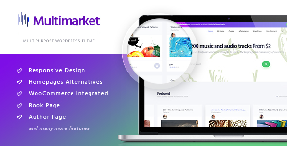 Multimarket Preview Wordpress Theme - Rating, Reviews, Preview, Demo & Download