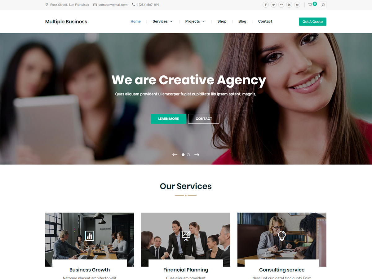 Multiple Business Preview Wordpress Theme - Rating, Reviews, Preview, Demo & Download