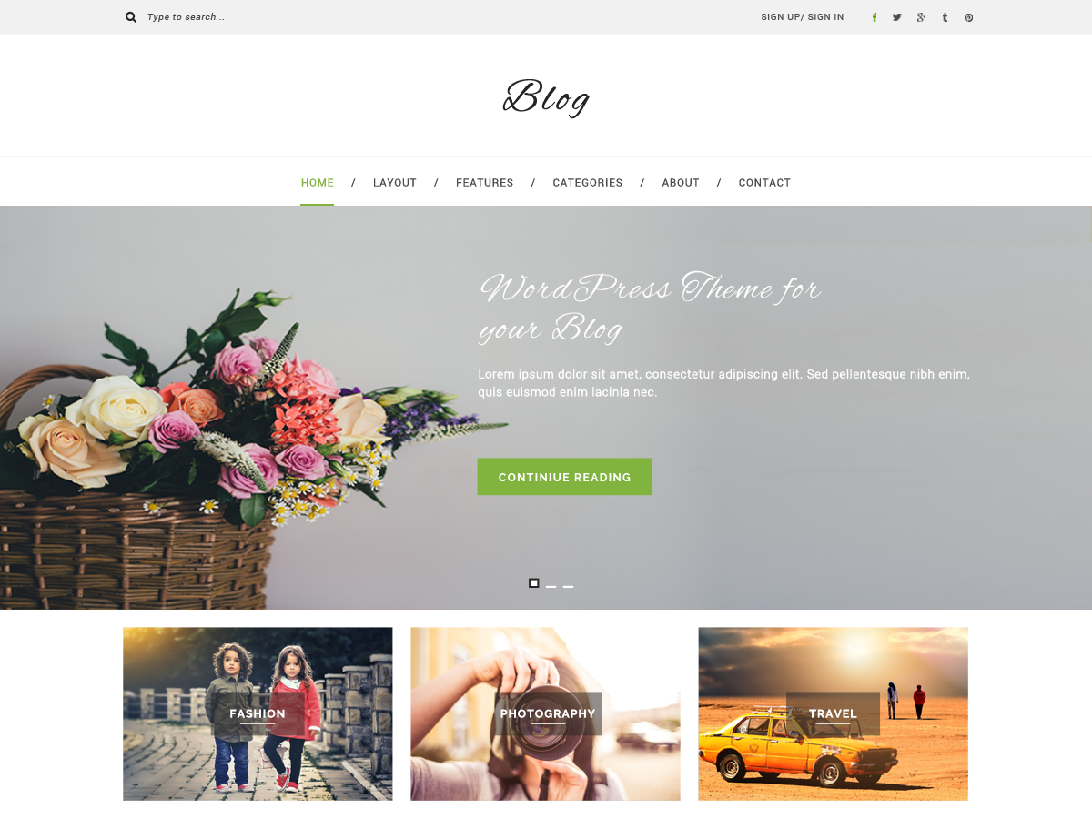 Multipurpose Blog Preview Wordpress Theme - Rating, Reviews, Preview, Demo & Download