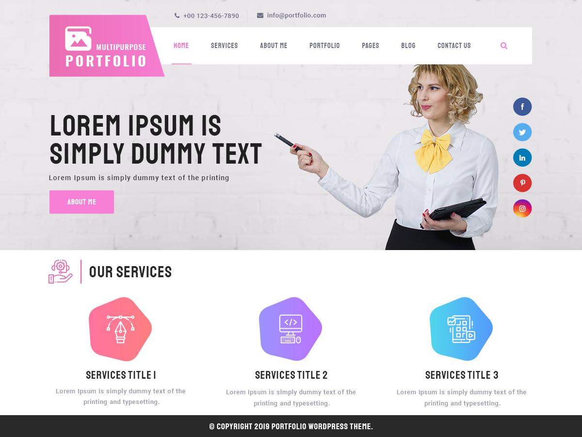 Multipurpose Portfolio Preview Wordpress Theme - Rating, Reviews, Preview, Demo & Download