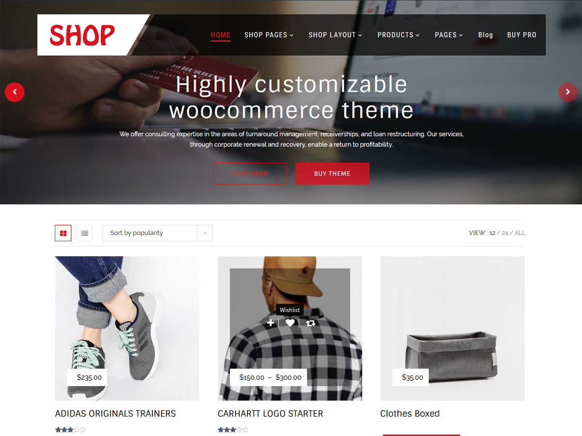 Multipurpose Shop Preview Wordpress Theme - Rating, Reviews, Preview, Demo & Download