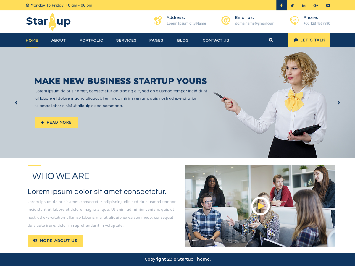 Multipurpose Startup Preview Wordpress Theme - Rating, Reviews, Preview, Demo & Download