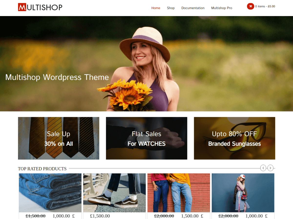 Multishop Preview Wordpress Theme - Rating, Reviews, Preview, Demo & Download