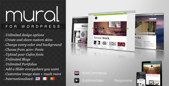 Mural Preview Wordpress Theme - Rating, Reviews, Preview, Demo & Download