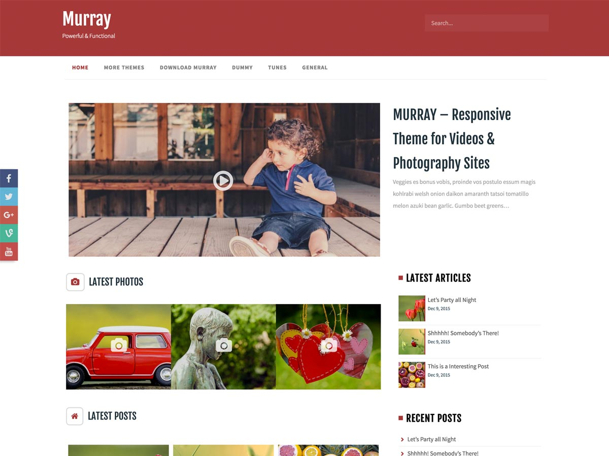 Murray Preview Wordpress Theme - Rating, Reviews, Preview, Demo & Download