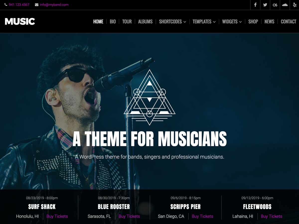 Music Lite Preview Wordpress Theme - Rating, Reviews, Preview, Demo & Download