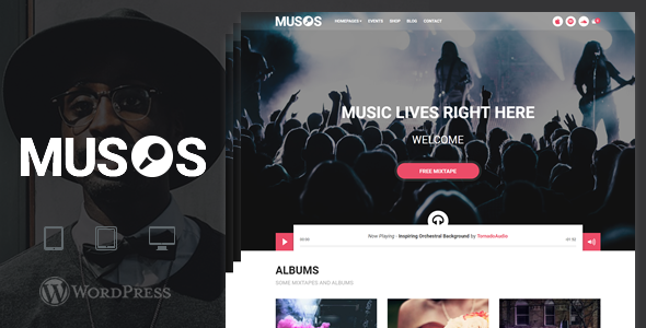 Musos Preview Wordpress Theme - Rating, Reviews, Preview, Demo & Download