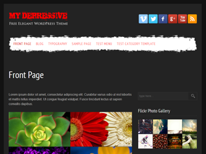 My Depressive Preview Wordpress Theme - Rating, Reviews, Preview, Demo & Download