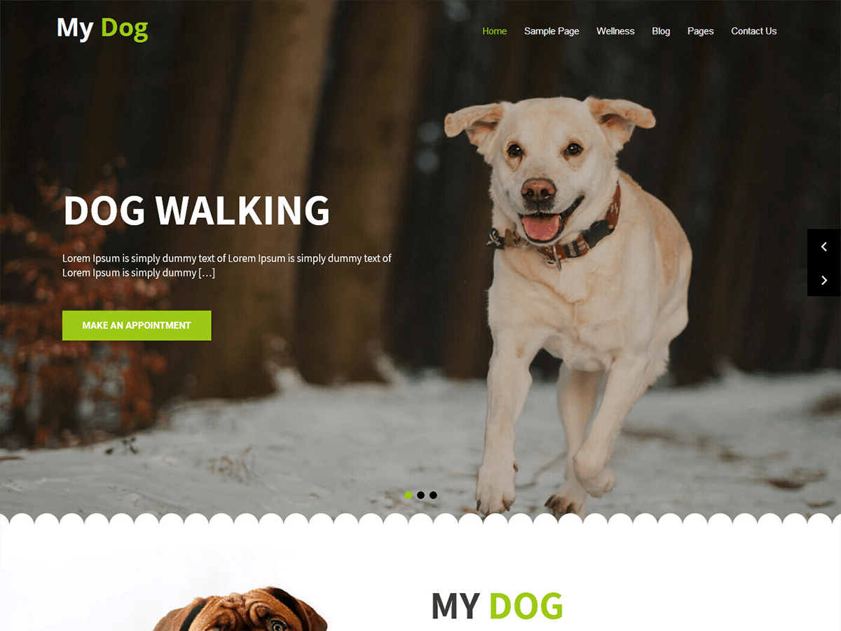 My Dog Preview Wordpress Theme - Rating, Reviews, Preview, Demo & Download