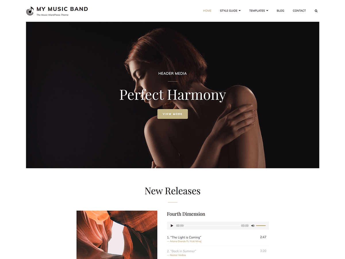My Music Preview Wordpress Theme - Rating, Reviews, Preview, Demo & Download