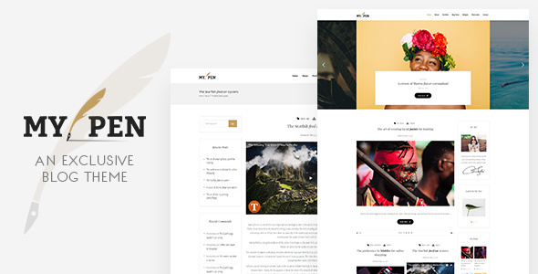 My Pen Preview Wordpress Theme - Rating, Reviews, Preview, Demo & Download