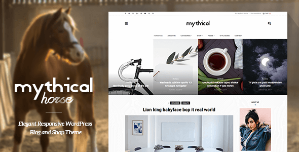 Mythical Horse Preview Wordpress Theme - Rating, Reviews, Preview, Demo & Download