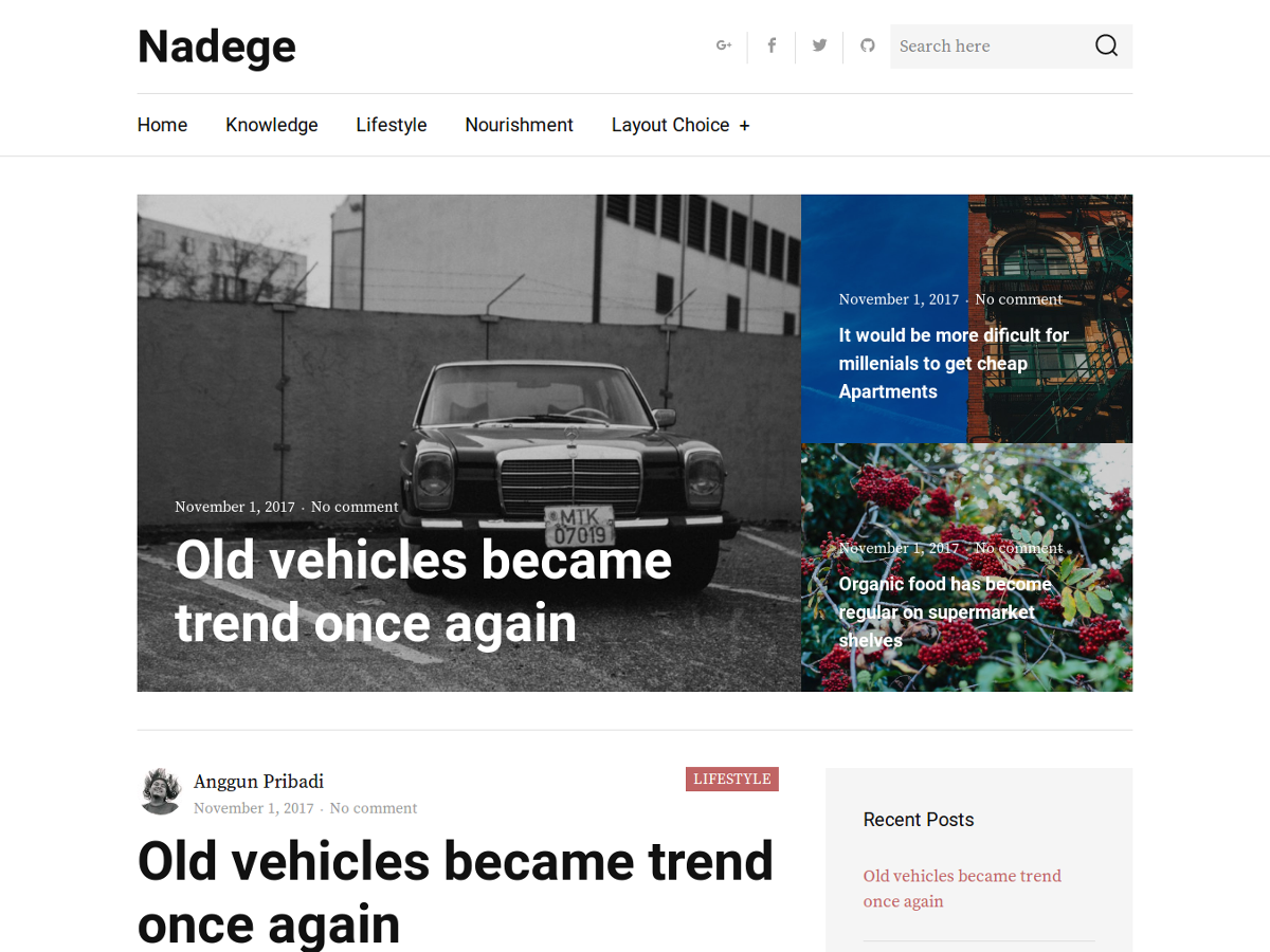 Nadege Preview Wordpress Theme - Rating, Reviews, Preview, Demo & Download