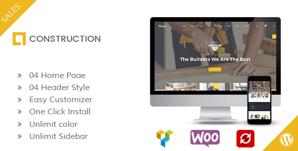 Nah Construction Preview Wordpress Theme - Rating, Reviews, Preview, Demo & Download