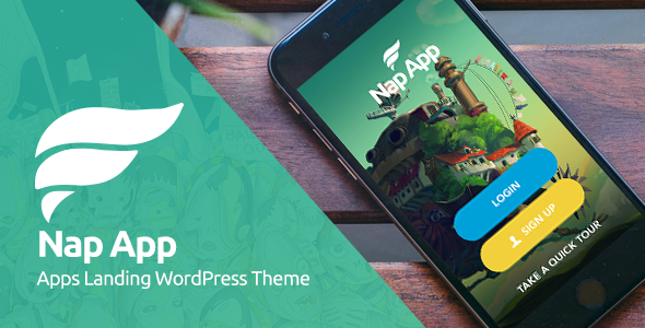 NapApp Preview Wordpress Theme - Rating, Reviews, Preview, Demo & Download