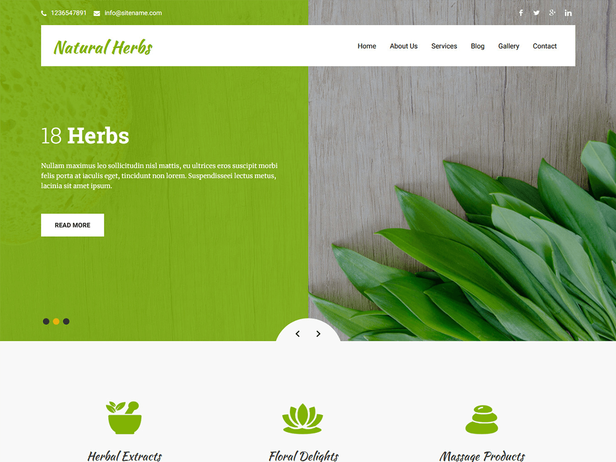 Natural Herbs Preview Wordpress Theme - Rating, Reviews, Preview, Demo & Download
