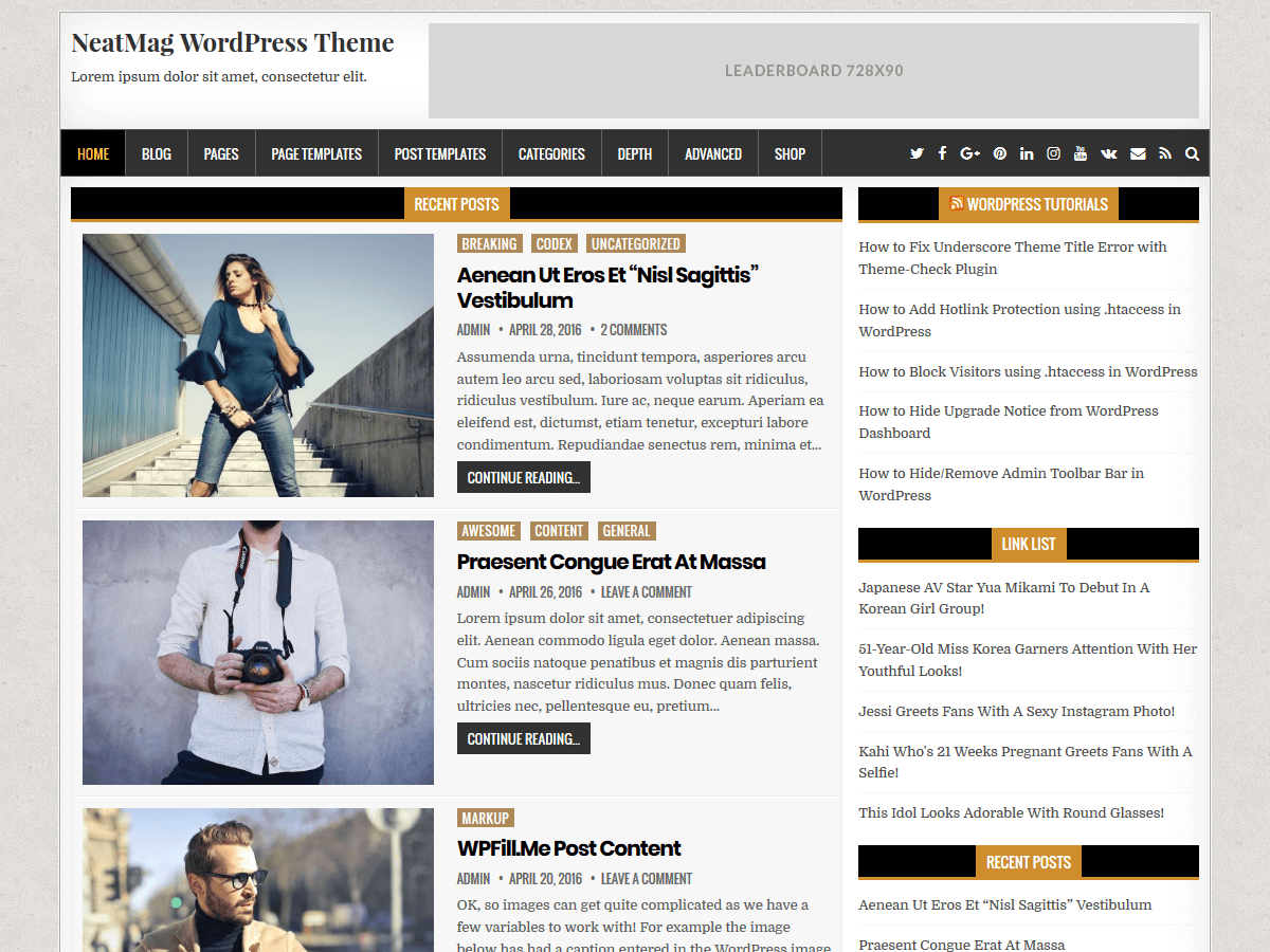 NeatMag Preview Wordpress Theme - Rating, Reviews, Preview, Demo & Download