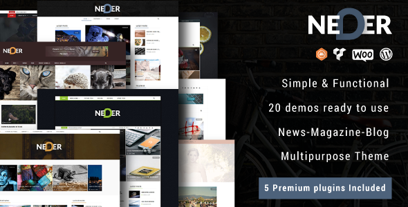 Neder Preview Wordpress Theme - Rating, Reviews, Preview, Demo & Download