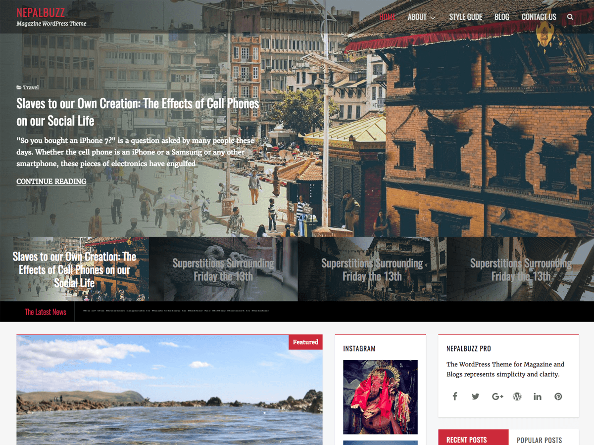 NepalBuzz Preview Wordpress Theme - Rating, Reviews, Preview, Demo & Download