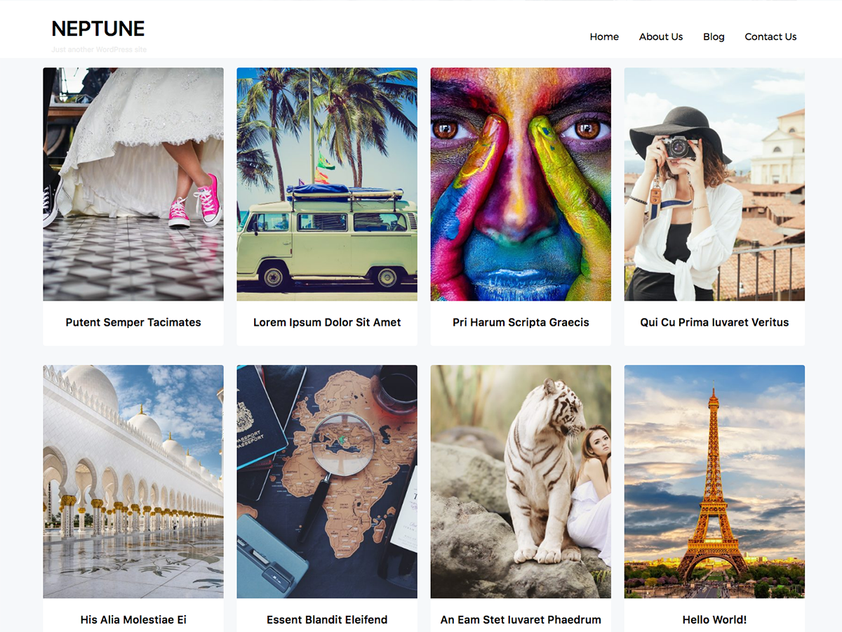Neptune Portfolio Preview Wordpress Theme - Rating, Reviews, Preview, Demo & Download