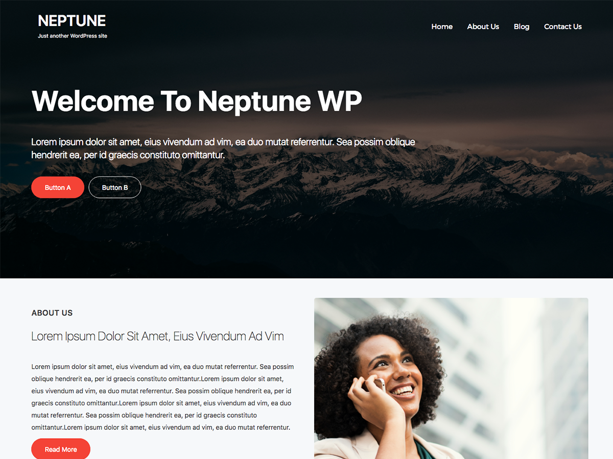 Neptune WP Preview Wordpress Theme - Rating, Reviews, Preview, Demo & Download