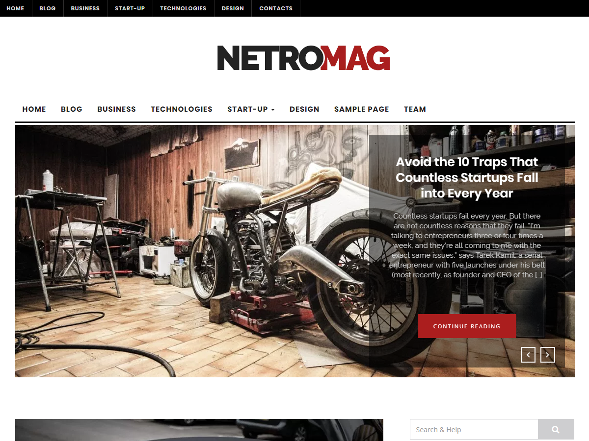NetroMag Preview Wordpress Theme - Rating, Reviews, Preview, Demo & Download