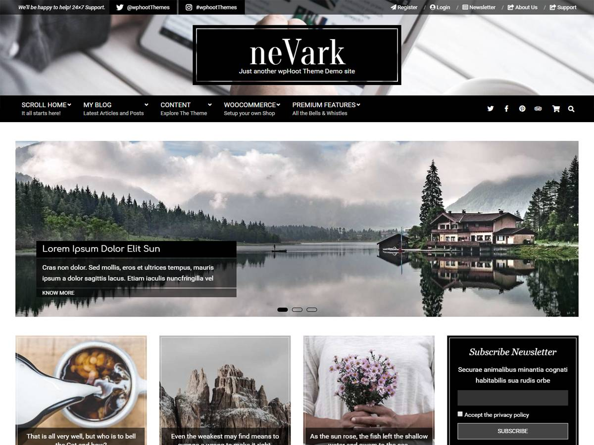Nevark Preview Wordpress Theme - Rating, Reviews, Preview, Demo & Download